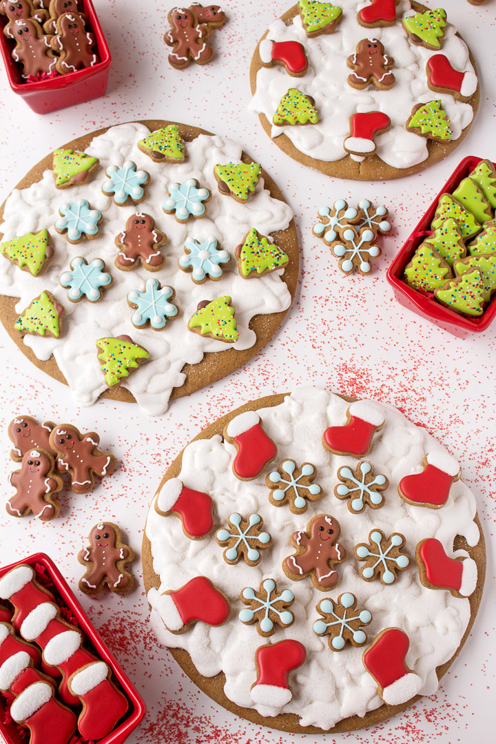How to Make Fun Gingerbread Pizza Cookies with a Video | The Bearfoot Baker