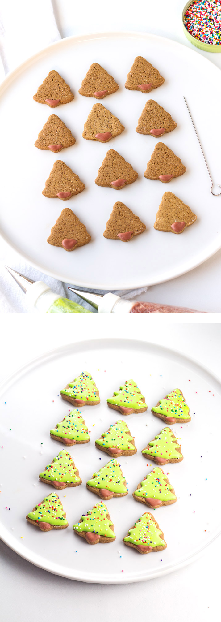 How to Make Gingerbread Pizza Cookies with a Simple How to Video | The Bearfoot Baker