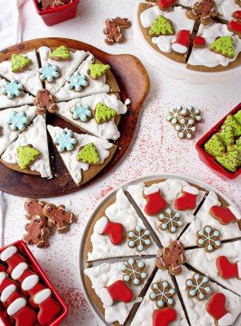 How to Make Gingerbread Pizza Cookies with a Video | The Bearfoot Baker