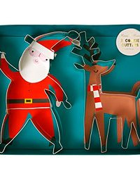 Meri Meri Santa and Reindeer Cookie Cutter Set