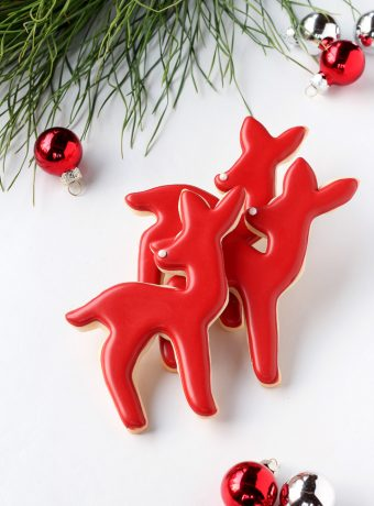 Simple 2016 Advent Deer Cookies | The Bearfoot Baker