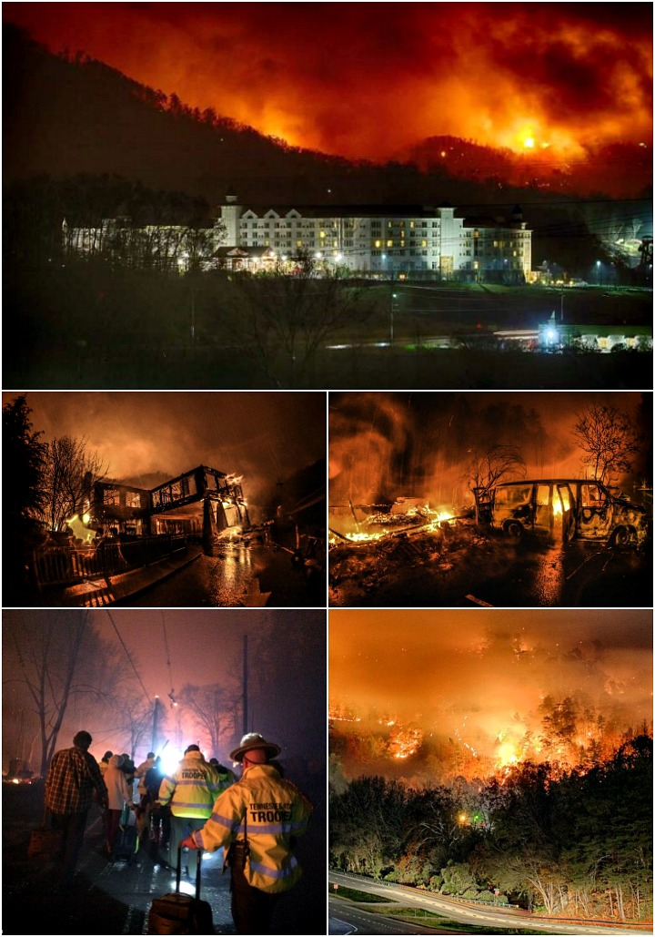 Gatlinburg Fires at The Chimney Tops   The Bearfoot Baker