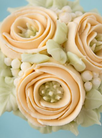 How to make Buttercream Ribbon Roses with Video | The Bearfoot Baker