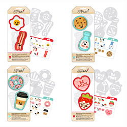 Sweet Sugarbelle - We Go Together Kit - Bacon & Eggs, Milk & Cookies, Coffee & Donuts and Valentine Sweets - Cookie Cutter Sets