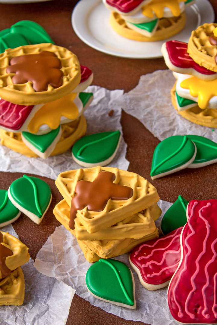 Breakfast Cookies - Decorated Sugar Cookies with Royal Icing | The Bearfoot Baker