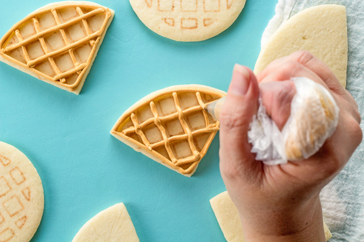 How to Make Cute Waffle Cookies with a Video | The Bearfoot Baker