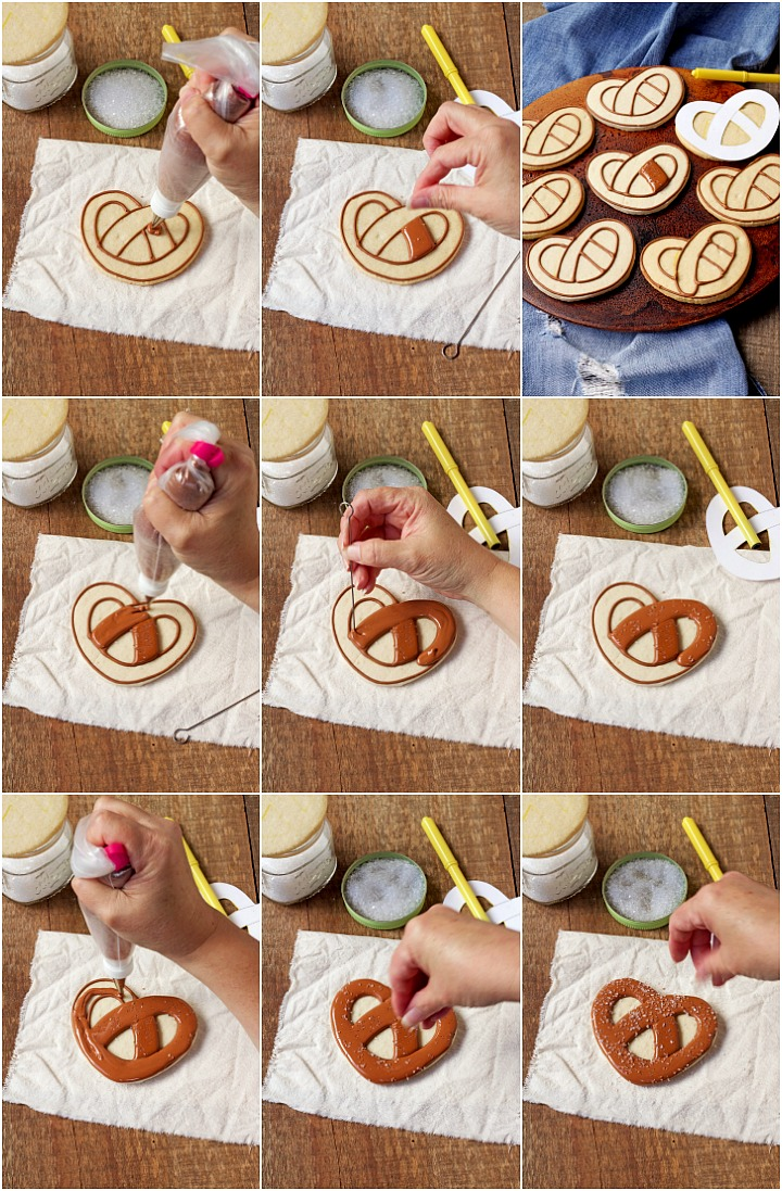 How to Make Easy Pretzel Cookies with Royal Icing | The Bearfoot Baker
