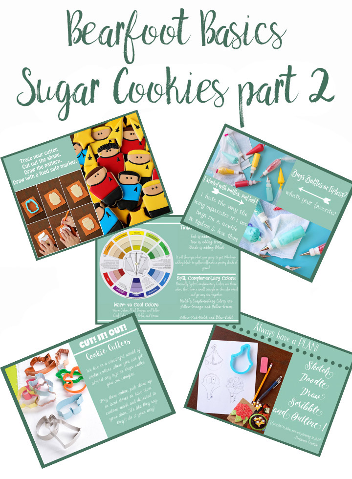 Sugar Cookies, The Bearfoot Baker, cookie tutorial, royal icing, how to make sugar cookies, cookie decorating