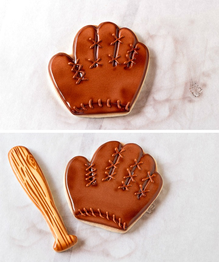 How to Make Fun Baseball Cookies with a Video | The Bearfoot Baker
