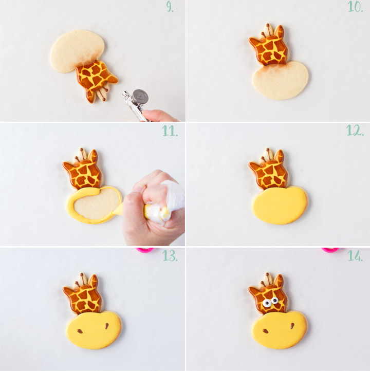 How to Make Funny Giraffe Cookies with a Video | The Bearfoot Baker
