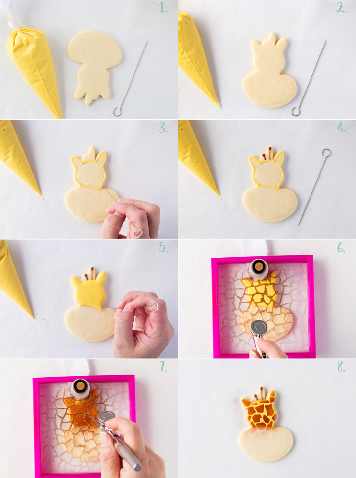 How to Make Giraffe Cookies with a Video | The Bearfoot Baker