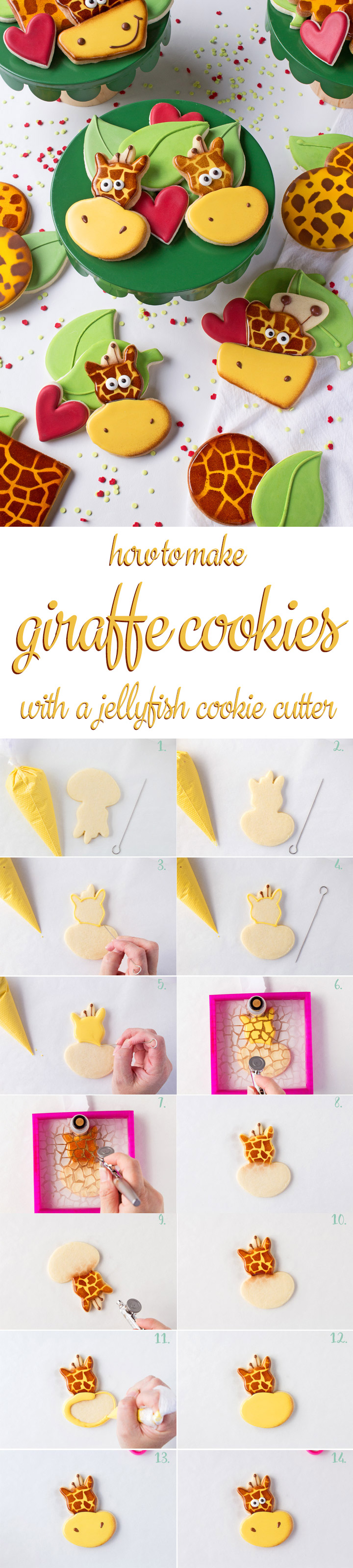 How to Make Silly Giraffe Cookies with a How to Video | The Bearfoot Baker