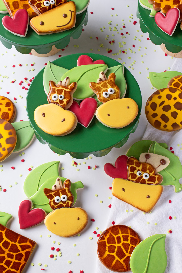 How to Make Silly Giraffe Cookies with a Video | The Bearfoot Baker