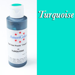 Americolor Soft Gel Paste Food Color-Turquoise