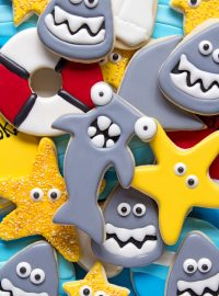 How to Make Hammerhead Shark Cookies with a Video | The Bearfoot Baker