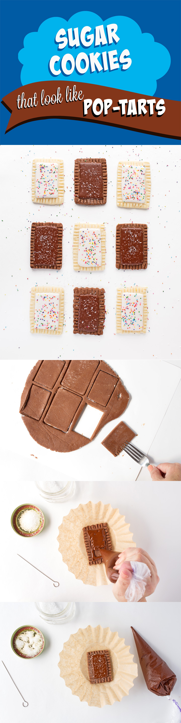 How to Make a Sugar Cookie that looks like a Pop-Tart Tutorial with a Video   The Bearfoot Baker