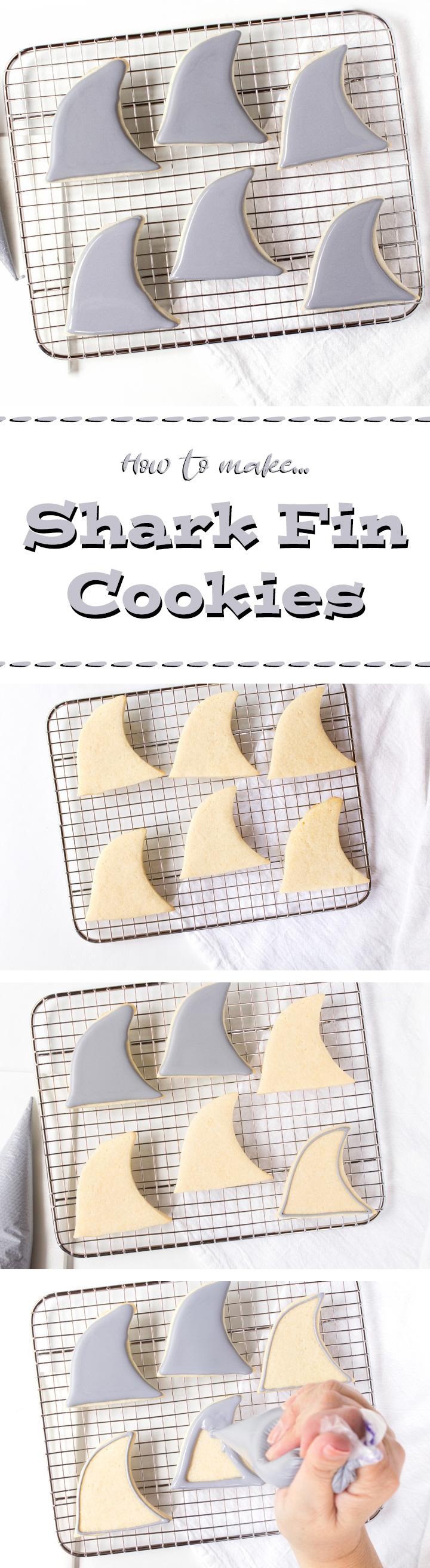 How to Make Fun Simple Shark Fin Cookies with a How to Video   The Bearfoot Baker