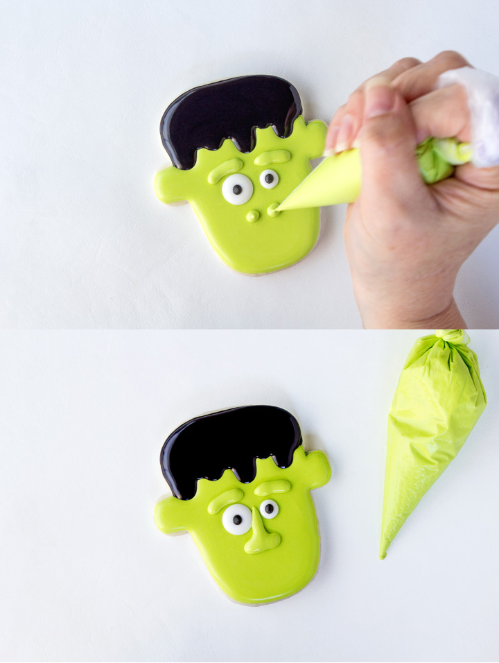 Cute Frankenstein Cookies Don't Have to Be Scary Great for Halloween | The Bearfoot Baker