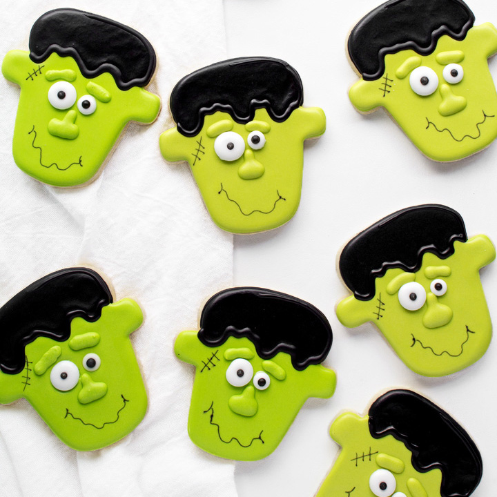 Cute Frankenstein Cookies Don't Have to Be Scary Tutorial with a Video | The Bearfoot Baker