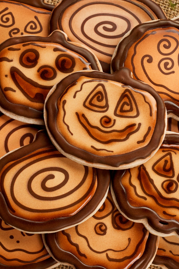 Fall Cookies-Wooden Pumpkin Cookies | The Bearfoot Baker
