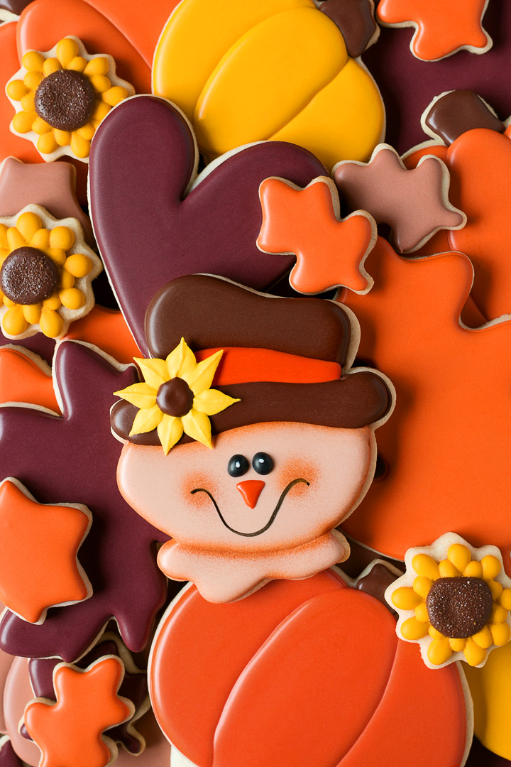 Scarecrow Fall Cookies | The Bearfoot Baker
