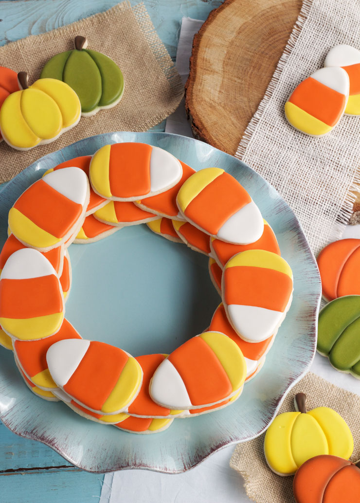 Simple Candy Corn Cookies - You Need These for Fall   The Bearfoot Baker