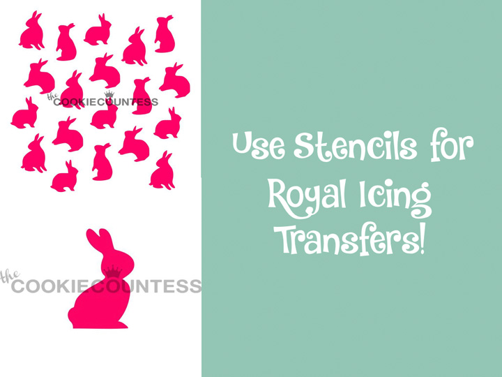Sugar Cookies 101- Part 3 Royal Icing Tips- And How to Use Stencils for Royal Icing Transfers | The Bearfoot Baker