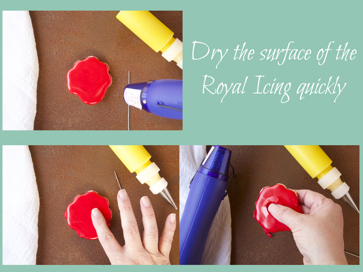 Sugar Cookies 101- Part 3 Royal Icing Tips- How to Dry Your Cookies with a Shine | The Bearfoot Baker