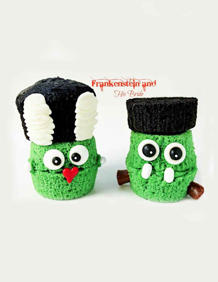 7 Halloween Treats Frankenstein Cupcakes   The Bearfoot Baker