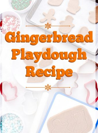 Gingerbread Playdough for Christmas | The Bearfoot Baker