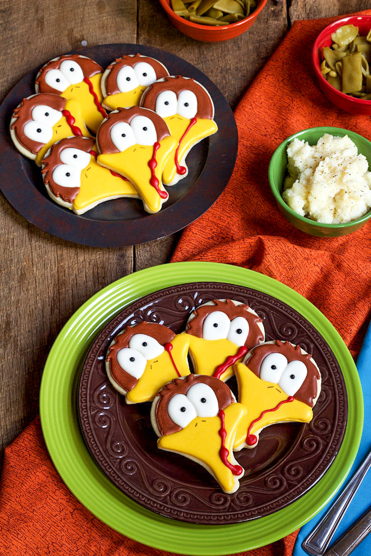 How to Make 10 Simple Turkey Cookies with Fun Cookie Cutters and Imagination | The Bearfoot Baker