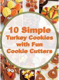 How to Make 10 Simple Turkey Cookies with Fun Cutters | The Bearfoot Baker