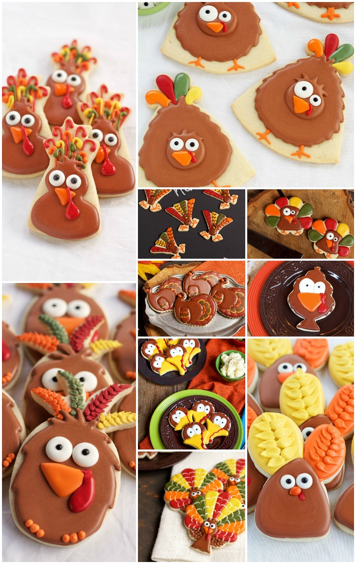 How to Make 10 Simple Turkey Cookies with Super Fun Cookie Cutters | The Bearfoot Baker