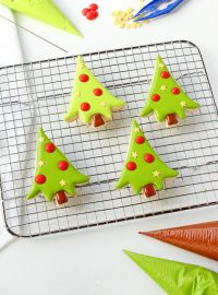 How to Make Adorable Little Christmas Tree Cookies | The Bearfoot Baker