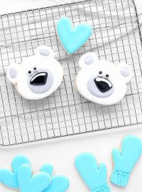 How to Make Adorable Polar Bear Cookies | The Bearfoot Baker