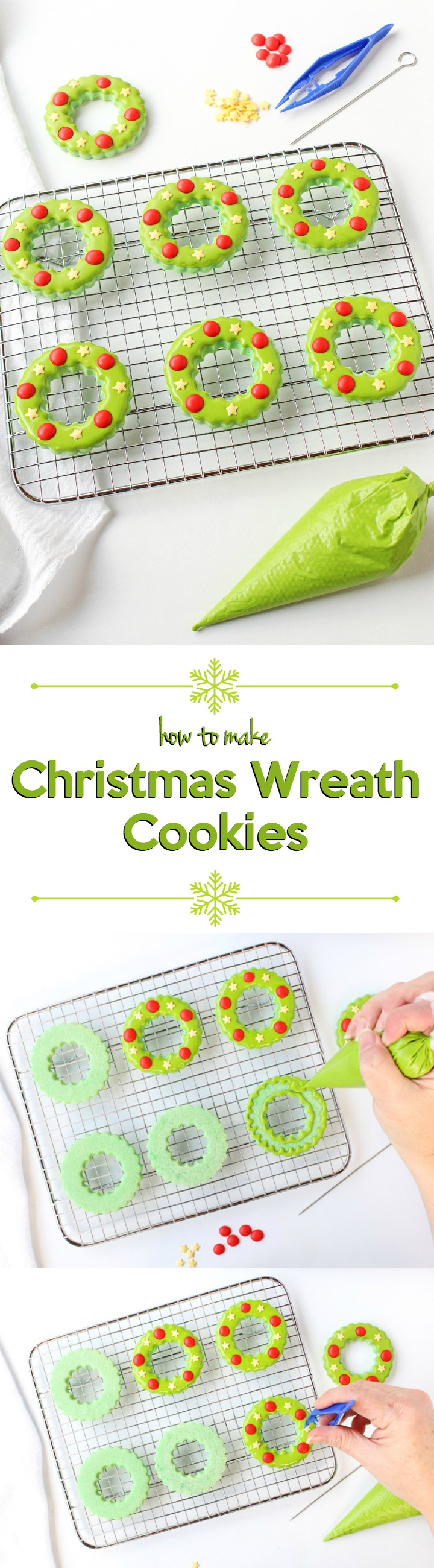 How to Make Adorable and Simple Christmas Wreath Cookies | The Bearfoot Baker