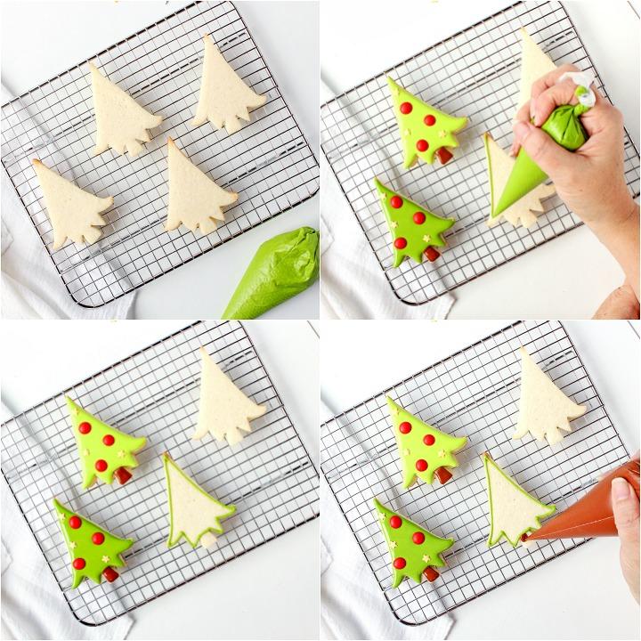 How to Make Cute Christmas Wreath Cookies | The Bearfoot Baker