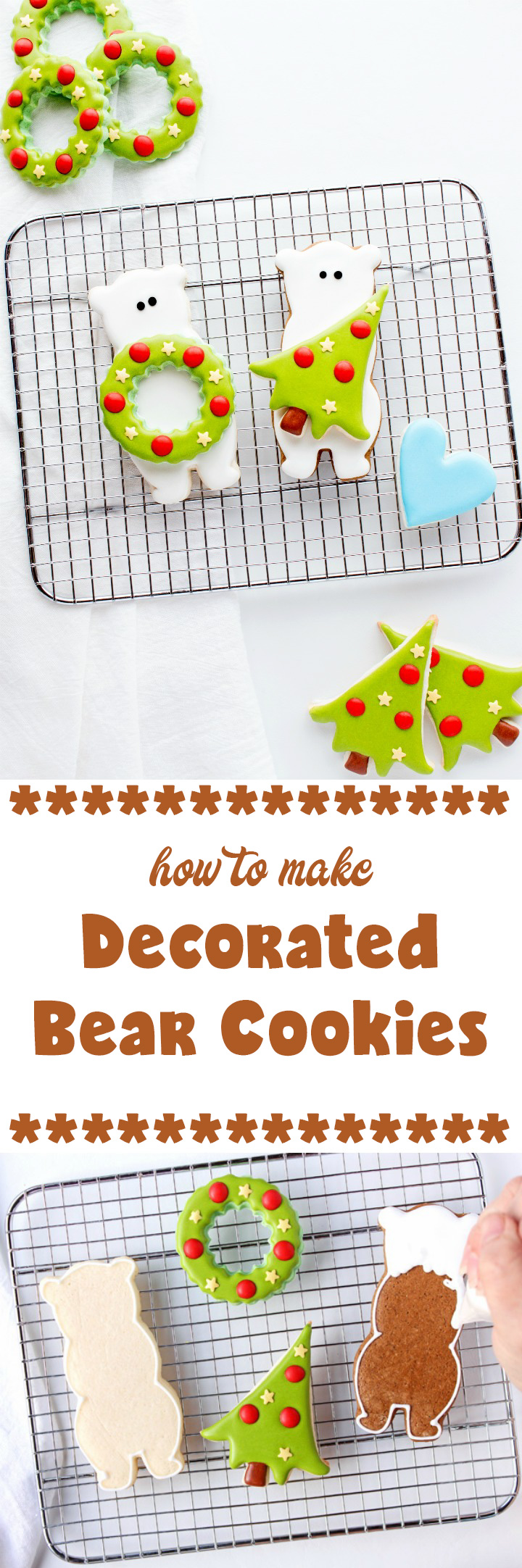How to Make Cute Simple and Fun Decorated Bear Cookies | The Bearfoot Baker