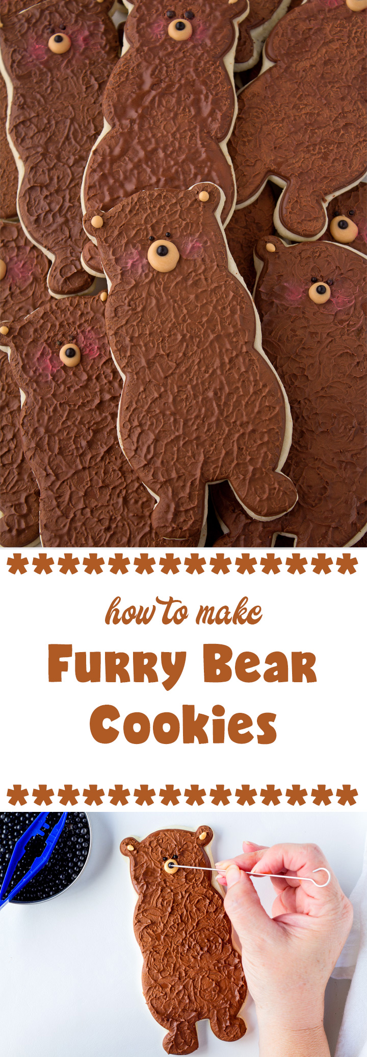 How to Make Fun Furry Bear Cookies | The Bearfoot Baker