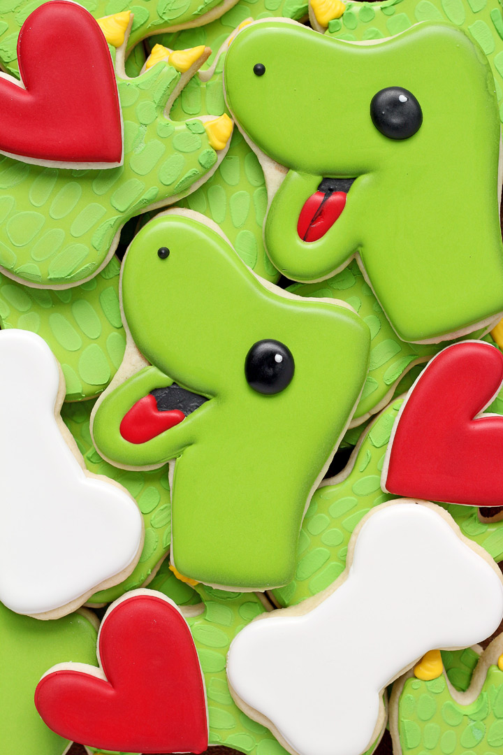 10 Valentine's Day Cookies Your Sweetheart will Love You're DINO-mite | The Bearfoot Baker