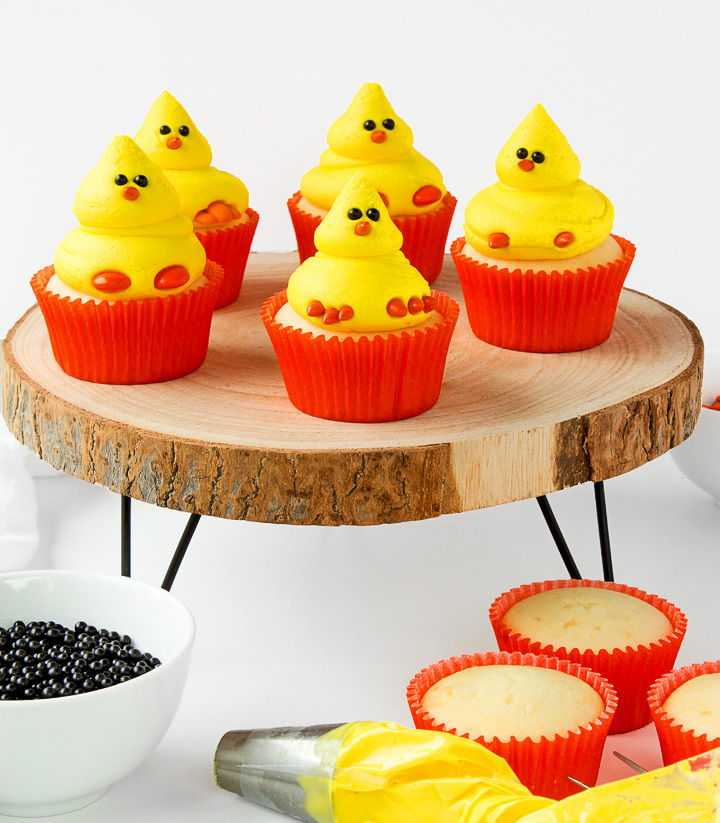 How to Make Cute Little Chick Cupcakes with the Kids | The Bearfoot Baker