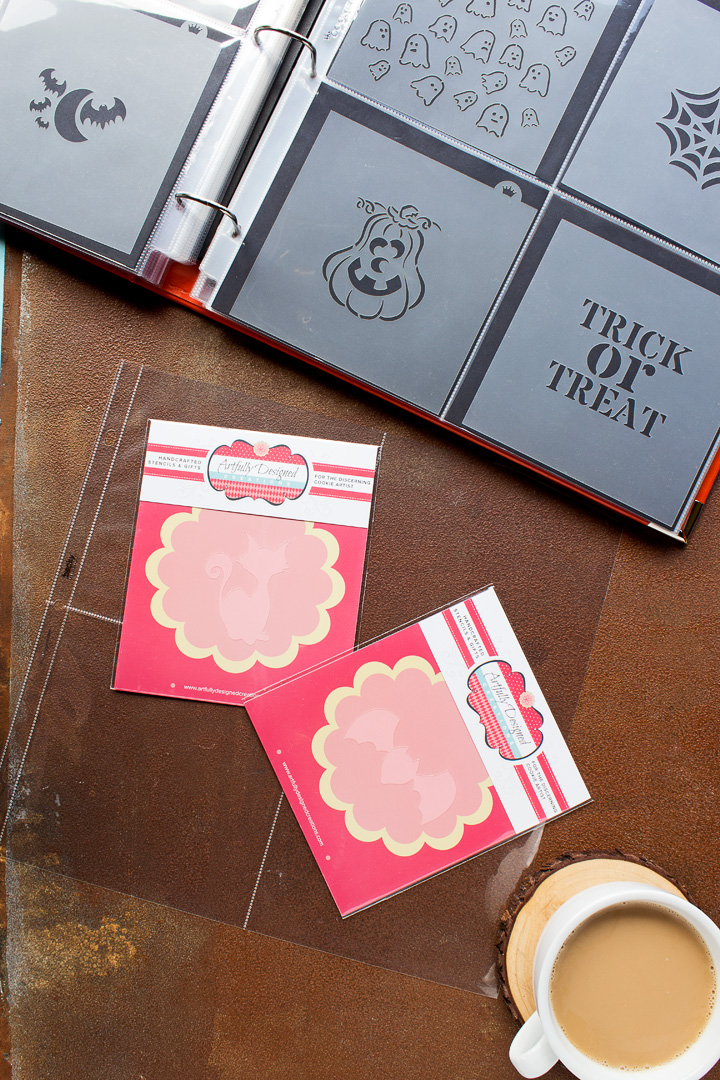 How to Organize Your Cookie Stencils | The Bearfoot Baker