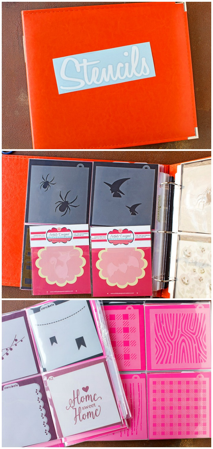 How to Organize Your Cookie Stencils with a Cute Stencil Album | The Bearfoot Baker
