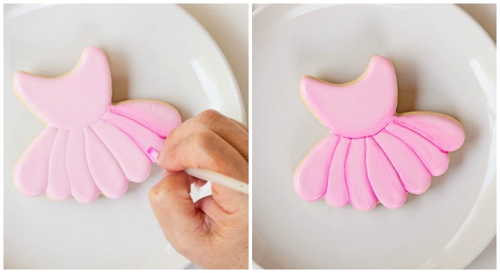 How to Make a Simple Ballet Cookie | The Bearfoot Baker