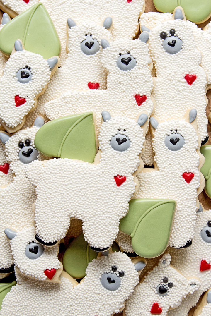 How to Make Cute Simple Llama Cookies | The Bearfoot Baker