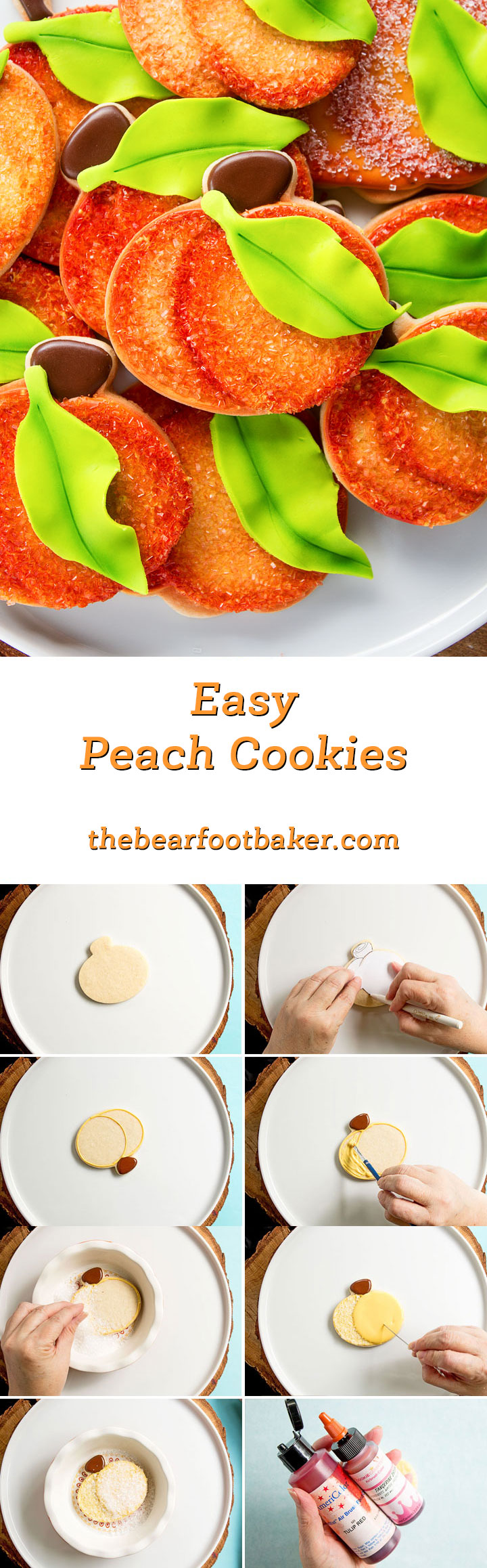 How to Make Easy Peach Cookies | The Bearfoot Baker