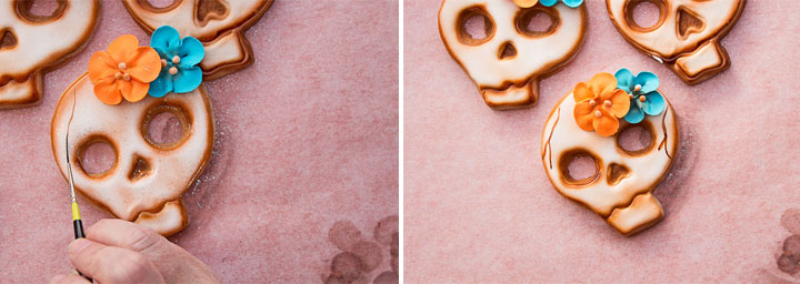 Fun Wicked Skull Cookies | The Bearfoot Baker