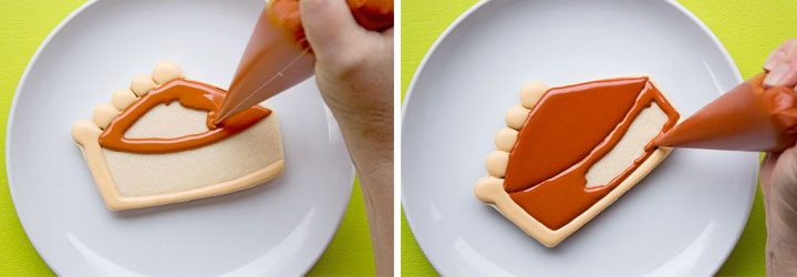 How to Make Fun Pumpkin Pie Slice Cookies   The Bearfoot Baker