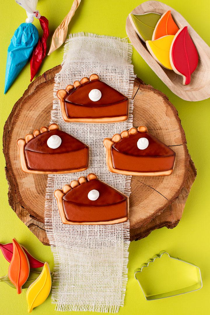 How to Make Simple Pumpkin Pie Slice Cookies   The Bearfoot Baker