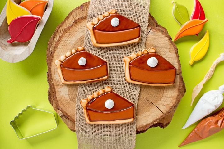 Simple Pumpkin Pie Slice Cookies   The Bearfoot Baker